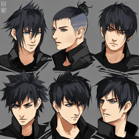 names of anime inspired hair styles noct hairstyles by bev nap on deviantart character