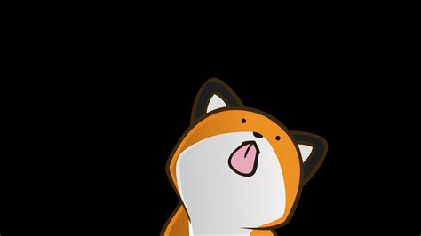 Vector funny stupidfox black background foxes wallpaper