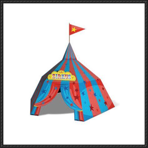 Origami Circus Tent - circus printable free papercraft