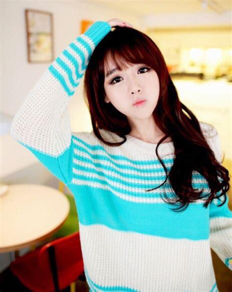 Sweater Wanita Korea I Am Sad Top Blue sweater wheretoget