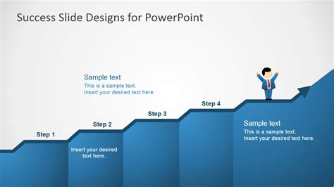 success powerpoint templates free success in four steps powerpoint slides slidemodel