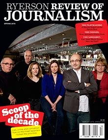 february 2016 newsletter ryerson school of journalism the ryerson review of journalism lives on masthead