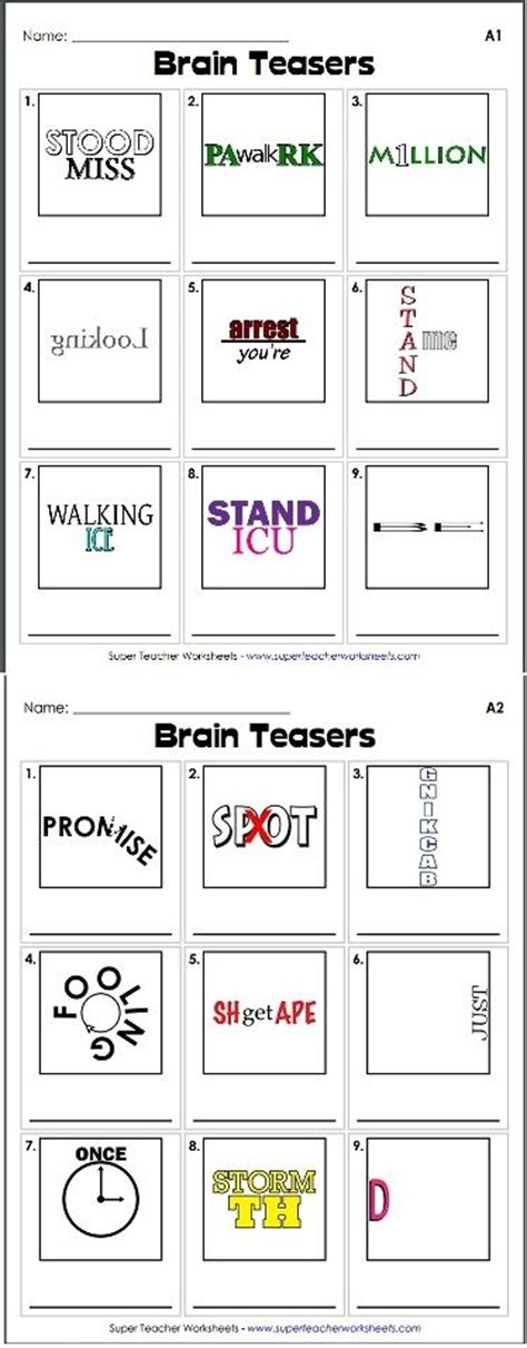printable games for high school check out our collection of brain teasers like this rebus