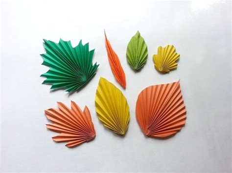Paper Leaves - diy paper leaves pattern trick all
