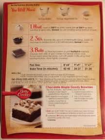 betty crocker cake mix directions on box
