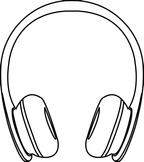 earphones coloring page drawing clipart earbuds pencil and in color drawing