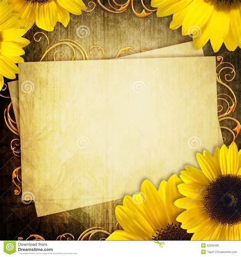 varias imagenes background css tarjeta con el manojo de girasoles foto de archivo