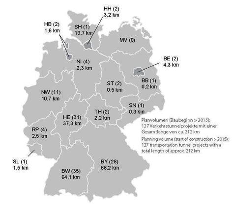 traditionen in deutschland tunnelbau in deutschland statistik 2014 2015 analyse