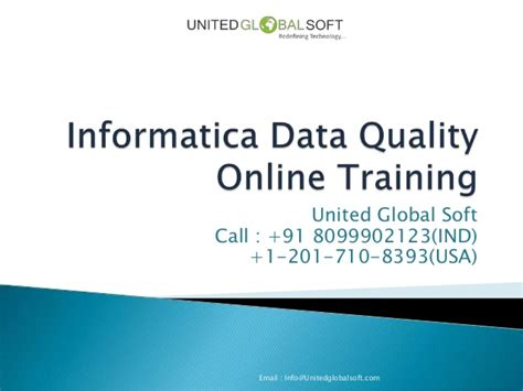 online tutorial for qc informatica data quality online training