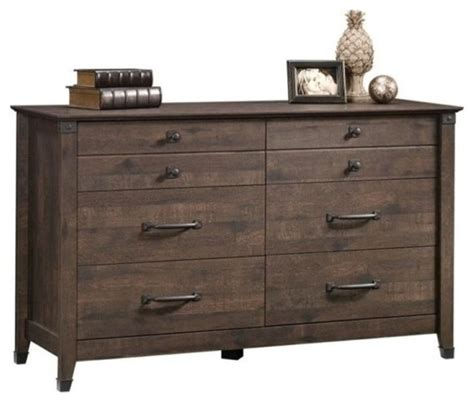 6 Drawer Oak Dresser by Pemberly Row 6 Drawer Dresser Coffee Oak Dressers By