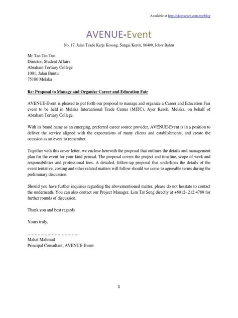 Offer Letter About Event Organizer sle letter for event management bepatient221017