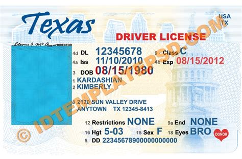 Drivers License Template by Drivers License Template Www Pixshark