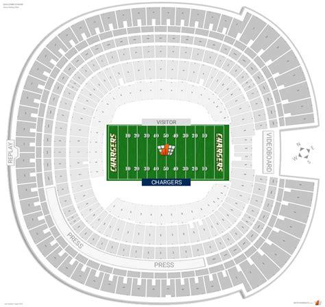 stadium interactive seating chart qualcomm stadium san diego state seating guide