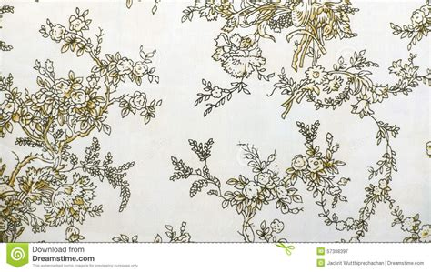 retro lace floral seamless pattern brown fabric background