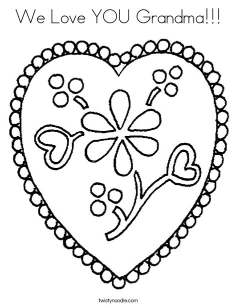 coloring pages i love grandma we love you grandma coloring page twisty noodle