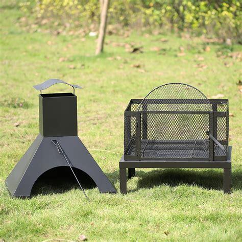 ikayaa large chimney garden outdoor patio pit