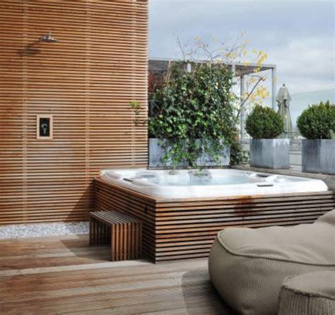 whirlpool terrasse on rooftop terrace op dakterras