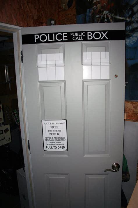 turn your front door into the tardis with this vinyl door