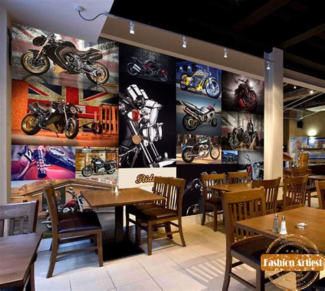 harley davidson living room aliexpress buy custom vintage motor bike race rock wallpaper mural harley davidson