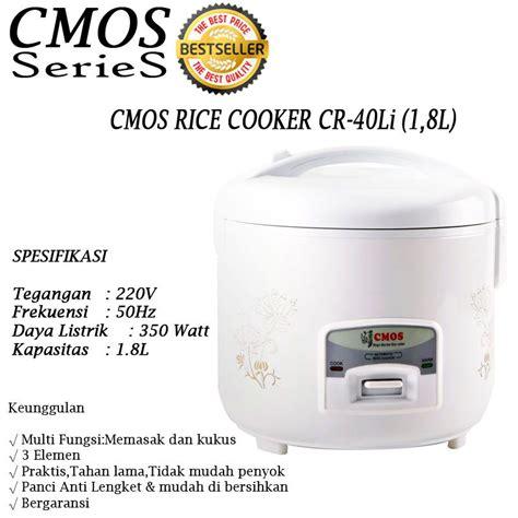 Cmos Cr40lj Rice Cooker new promo cmos series aneka rice cooker 08 l 18 l 3in1 anti lengket praktis tahan
