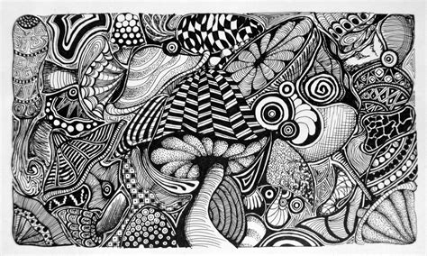 doodle doodle draw zentangle mushrooms on zentangle mushrooms