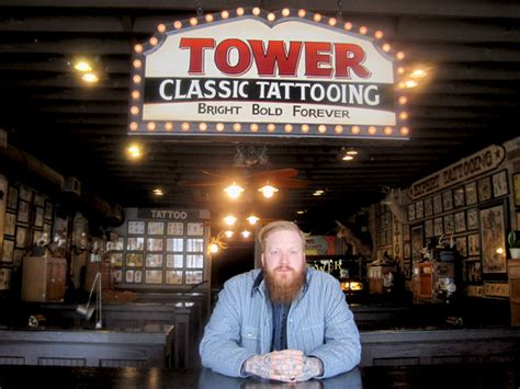 tower classic tattoo st louis apron maker knife flag hosting launch at