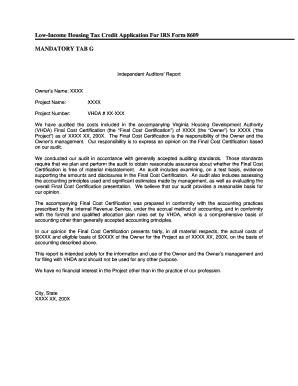 Vhda Tax Credit Forms Xxxx Vdha Fill Printable Fillable Blank Pdffiller