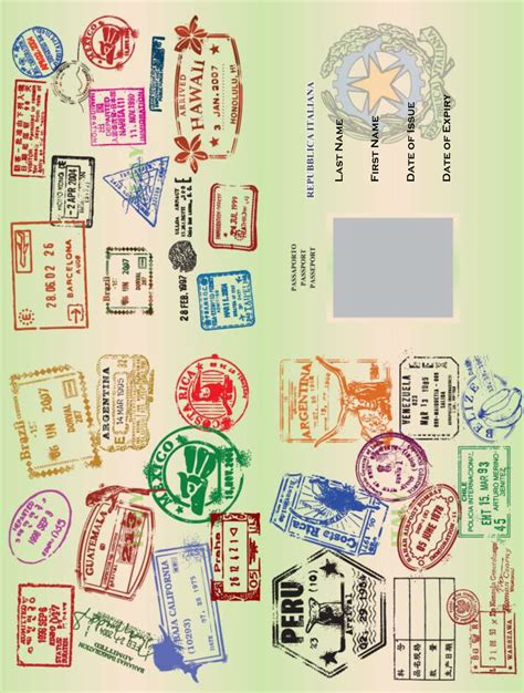 novelty passport template i do on a dime free printable arrivederci 30 how to
