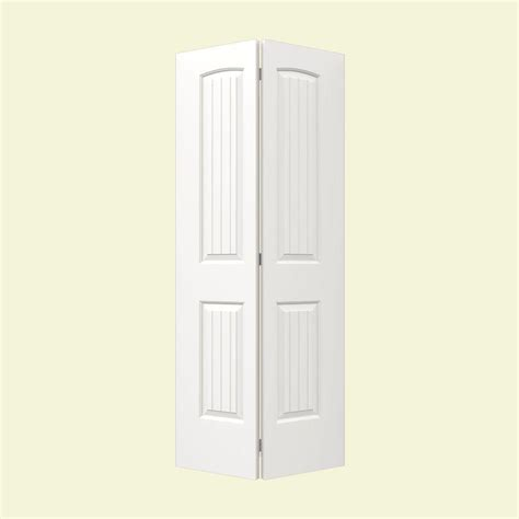 Jeld Wen Closet Doors Jeld Wen 32 In X 80 In Molded Smooth 2 Panel Arch Plank Brilliant White Hollow Composite