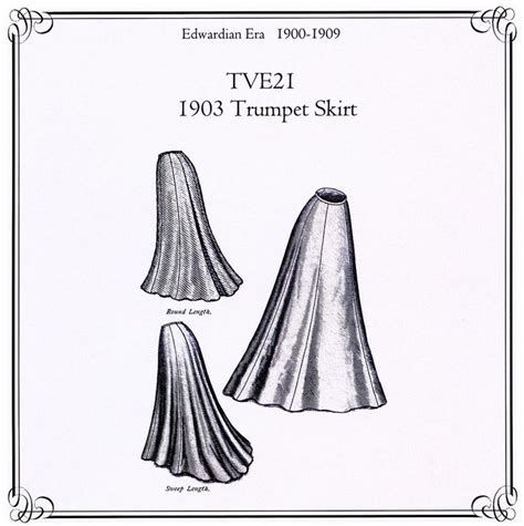 sewing pattern victorian skirt truly victorian edwardian 1903 trumpet skirt sewing