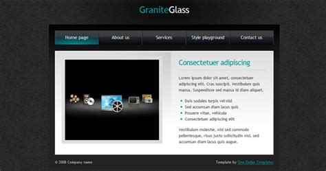 101 High Quality Css And Xhtml Free Templates And Layouts Part 1 Glass Website Templates
