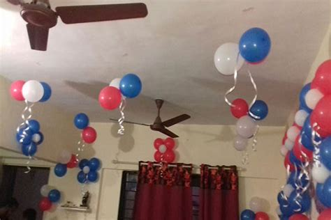 Easy Last Minute Decor Balloon Ceiling by 1000 Simple Balloon Decoration Ideas At Home Quotemykaam