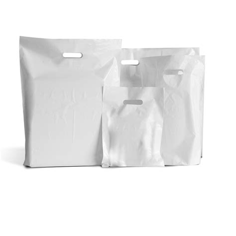 Paper Bag Godie Bag Karton Polos Size 36cm Isi 6pcs white patch handle plastic bags branded bags carrier