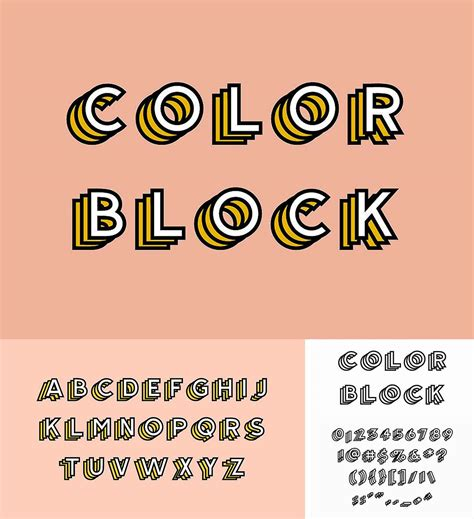 color font color block font free