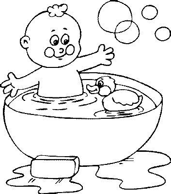 bath coloring pages coloringpages1001 com