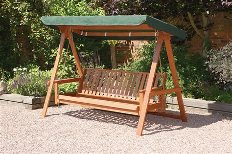 swinging garden seat quality wooden 3 seater garden swing bed hammock swing
