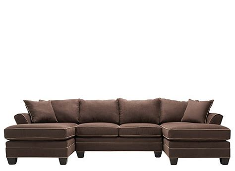 foresthill 3 pc microfiber sectional sofa chocolate