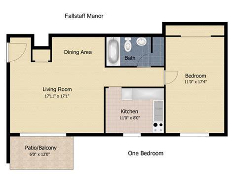 1 bedroom apartment square footage floorplan fallstaff manor apartments 1 bedroom 1 bath 680