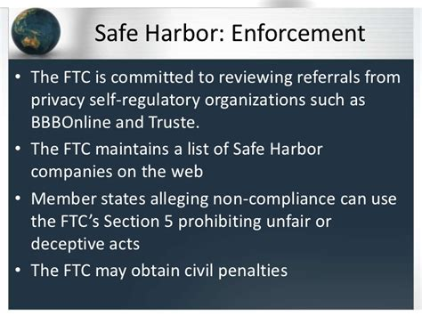 section 5 of the ftc act safe harbor a framework for us eu data privacy