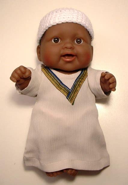 black doll boy black muslim baby boy doll in kufi and kaftan