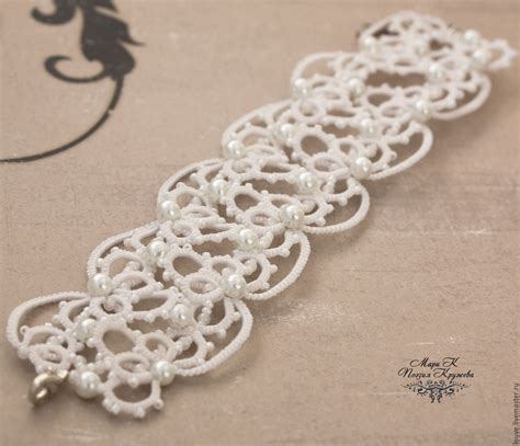 Lace Bracelet wide lace bracelet tatting white black e shop on