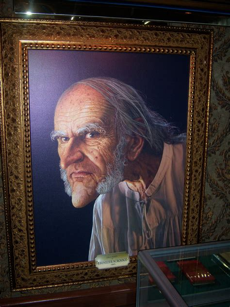 old ebenezer scrooge at disney s a christmas carol train t