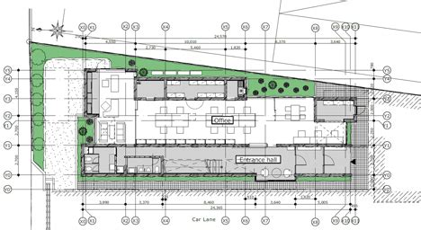 10 floors building plant yoshiyasu mizuno creates concrete office block for