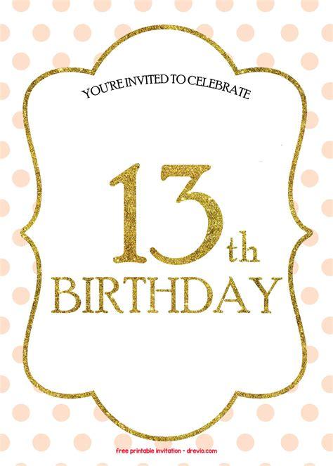 Free 13th Birthday Invitations Templates Free Invitation Templates Drevio Free Photo Invitation Templates