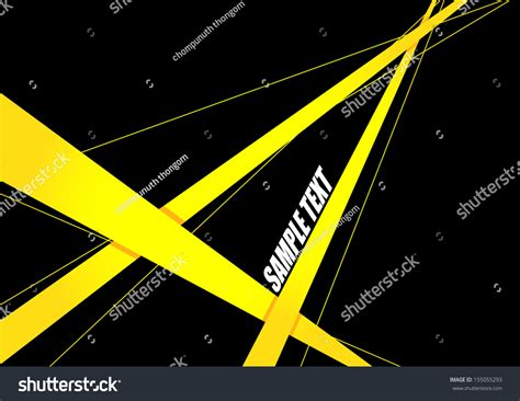 black yellow wallpaper vector abstract yellow ribbon on black background stock vector