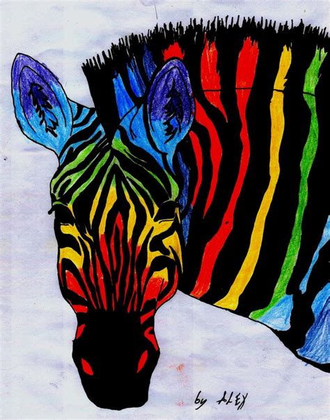 colorful zebra colorful zebra paintings