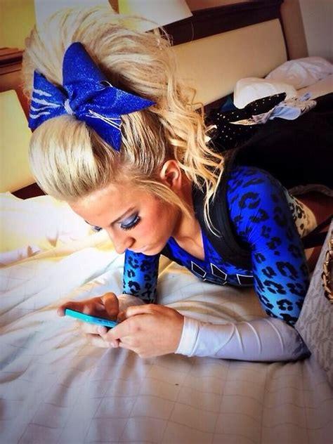 cheerleader hairstyles images that hair though cheerleading pinterest