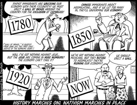 political cartoons on immigration 1780 we must erect a brass wall to keep those catholics