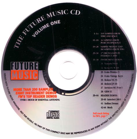 format of cd video classic 1993 future music sle cd makes it online the