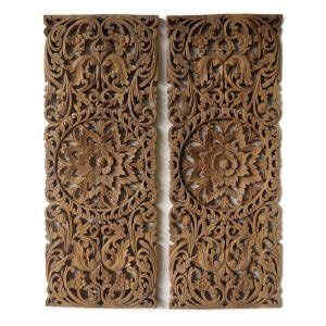 buy precious floral wood carving decorative panel